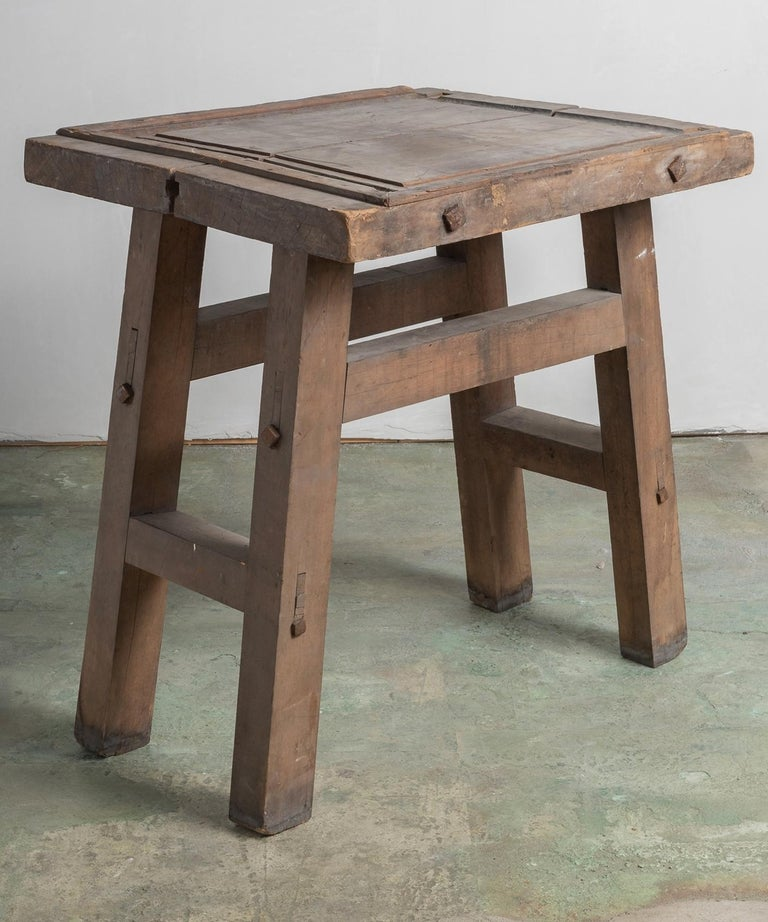 Artisan's work table, America, circa 1880.