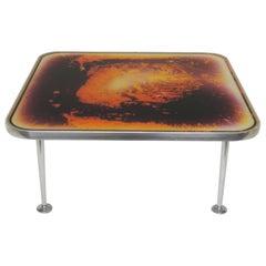 """Artist Bruno Contenotte """"Metaphisica Quantica"""" Coffee Table, Italy, 1970s-1980s"""