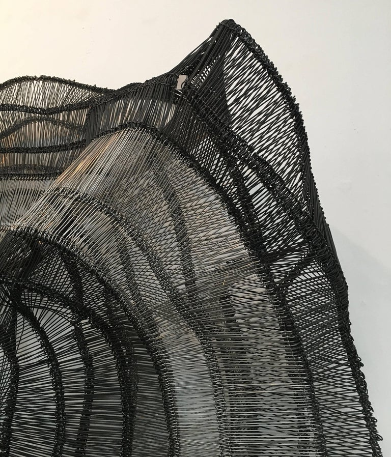Artist Eric Gushee Emergence Series Woven Wire Wall Sculpture For Sale 4