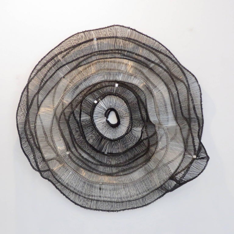Modern Artist Eric Gushee Emergence Series Woven Wire Wall Sculpture For Sale