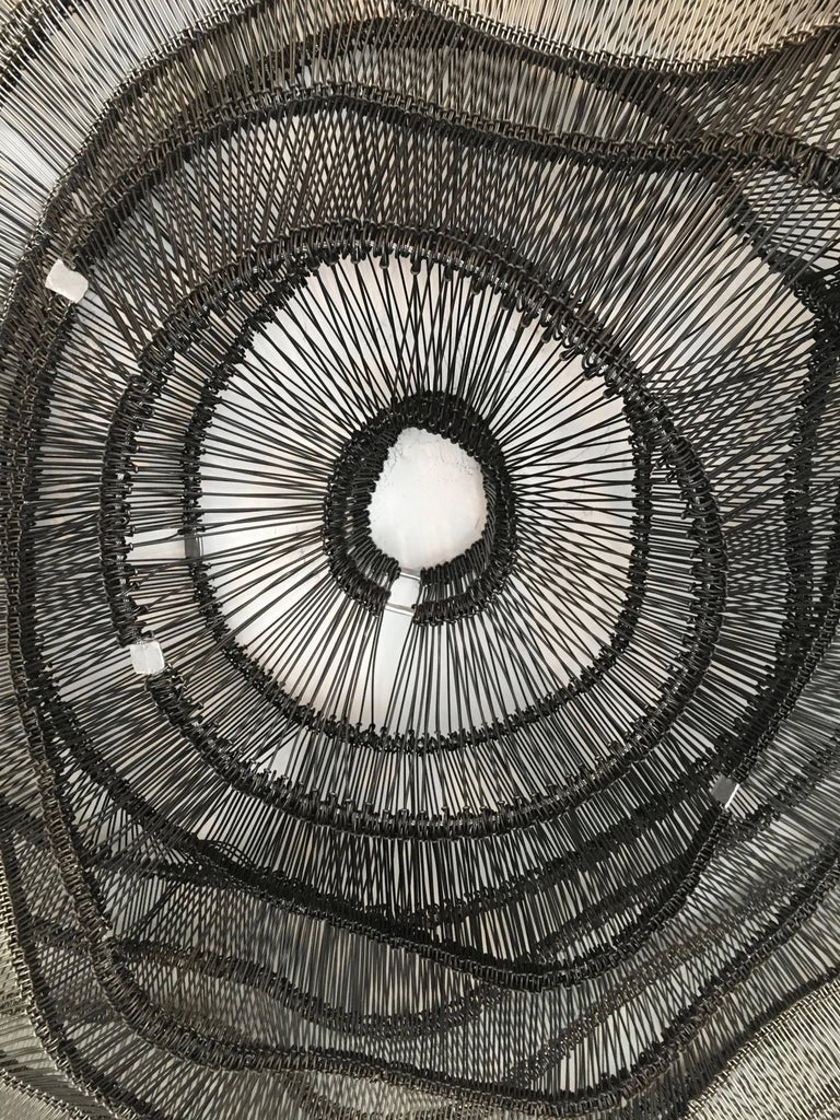 American Artist Eric Gushee Emergence Series Woven Wire Wall Sculpture For Sale