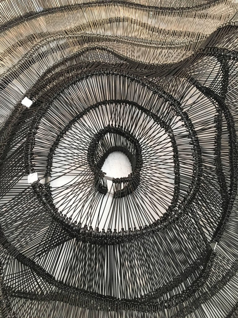 Artist Eric Gushee Emergence Series Woven Wire Wall Sculpture In Excellent Condition For Sale In Chicago, IL
