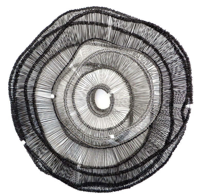 Artist Eric Gushee Emergence Series Woven Wire Wall Sculpture In New Condition For Sale In Chicago, IL