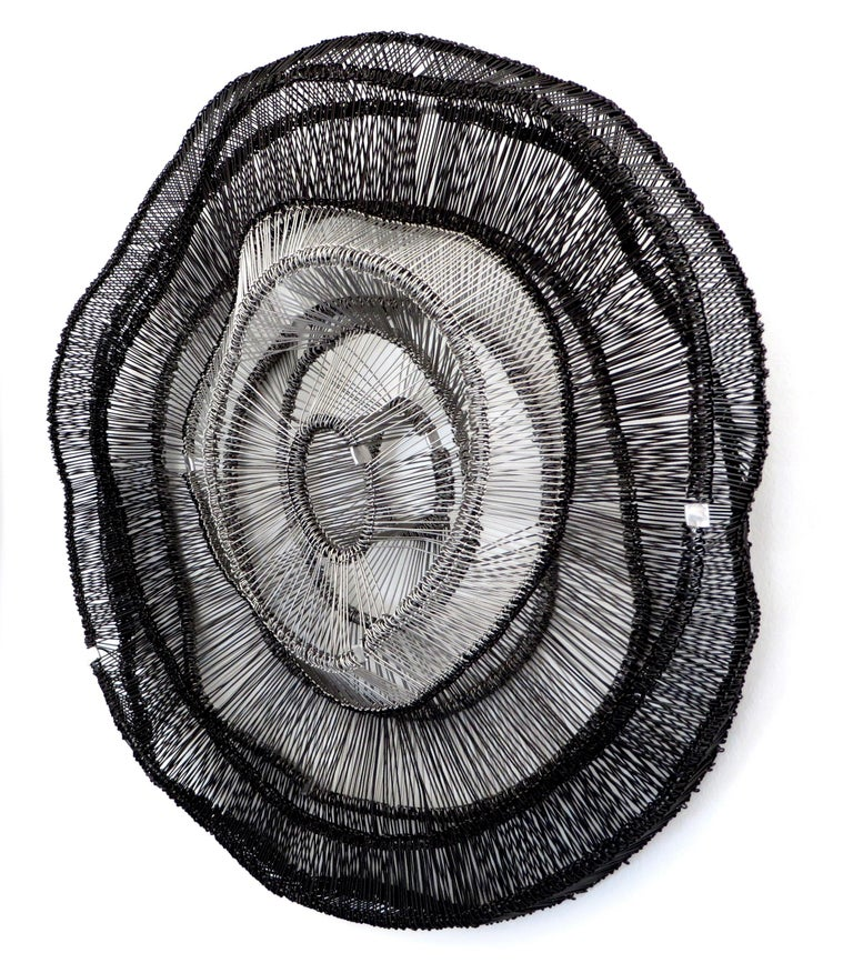 Contemporary Artist Eric Gushee Emergence Series Woven Wire Wall Sculpture For Sale