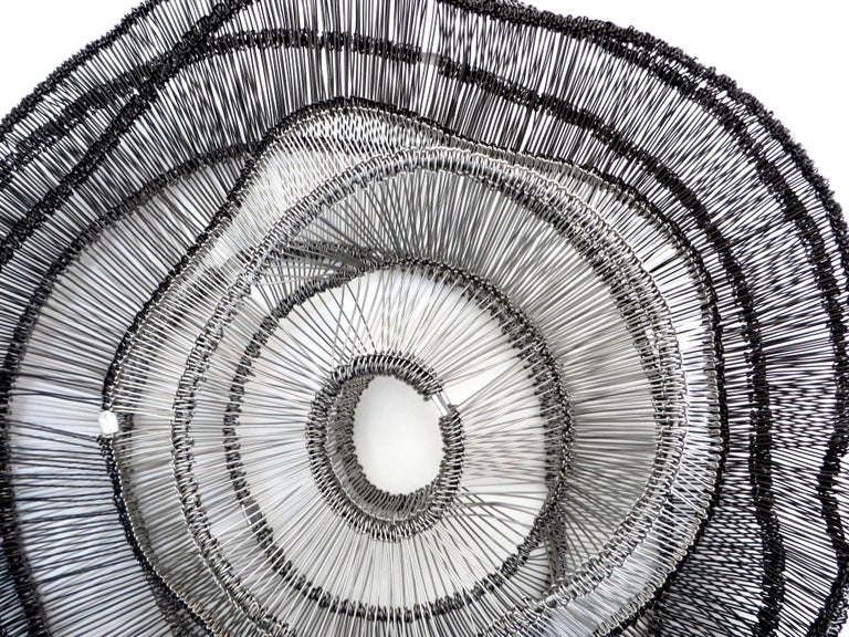 Artist Eric Gushee Emergence Series Woven Wire Wall Sculpture For Sale 1