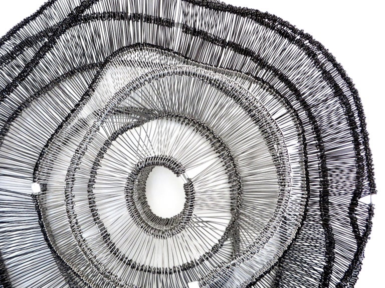 Artist Eric Gushee Emergence Series Woven Wire Wall Sculpture For Sale 2