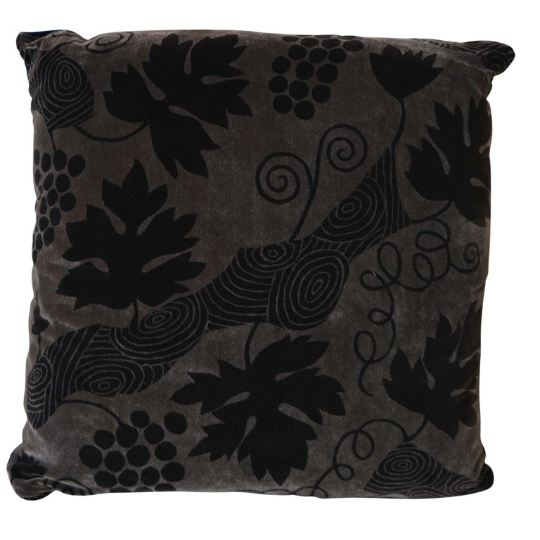 Artist Hand-Dyed Cushions Brown Front Coordinating Navy Blue Back For Sale