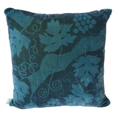 Artist Hand-Dyed Cushions Teal Front Coordinating Blue Green Back