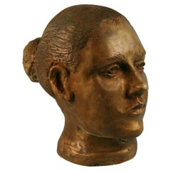 Artist Hand Made Female Plaster Sculpture