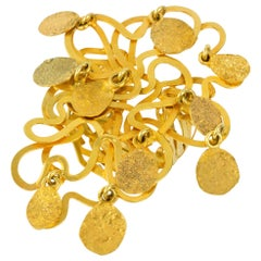Artist Jewel E.R. Nele Modernist Gold Ring, circa 1990