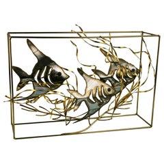 Artist Made Fish Aquarium Sculpture/Folk Art By Langton