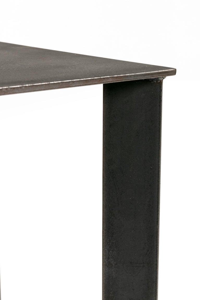 Artist Made Industrial Steel Pedestal Stand by Robert Koch, USA, 2018 In Excellent Condition For Sale In New York, NY