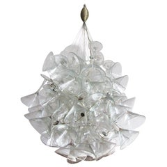 """Artist Made Midcentury Martini Glass Chandelier or Pendant by """"Chandelini"""""""