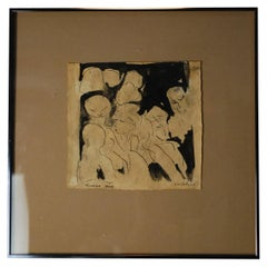 """Artist Schuyler Standish """"Turkish Baths"""" 1960 Signed"""