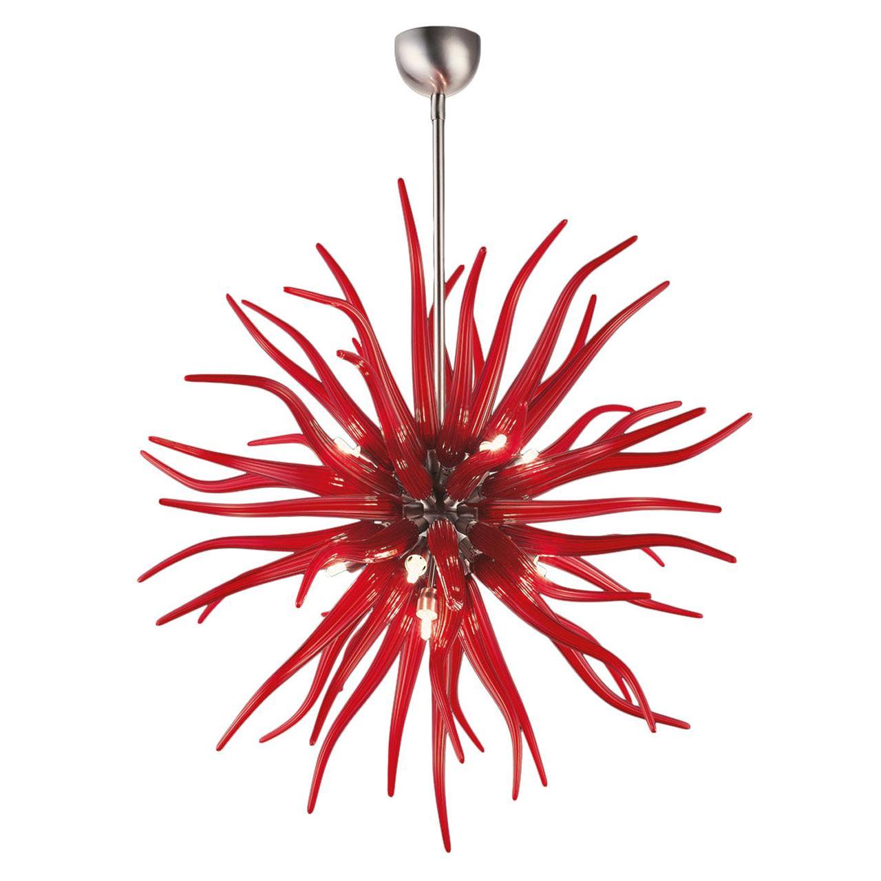 Artistic Blown Handmade Murano Glass Chandelier Medusa by La Murrina