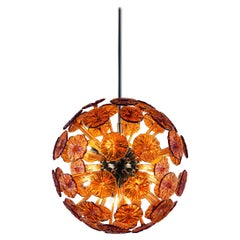 Artistic Blown Handmade Murano Glass Chandelier Planet by La Murrina