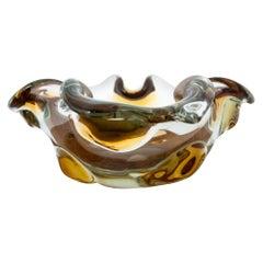 Artistic Glass Bowl Ashtray, 1960s