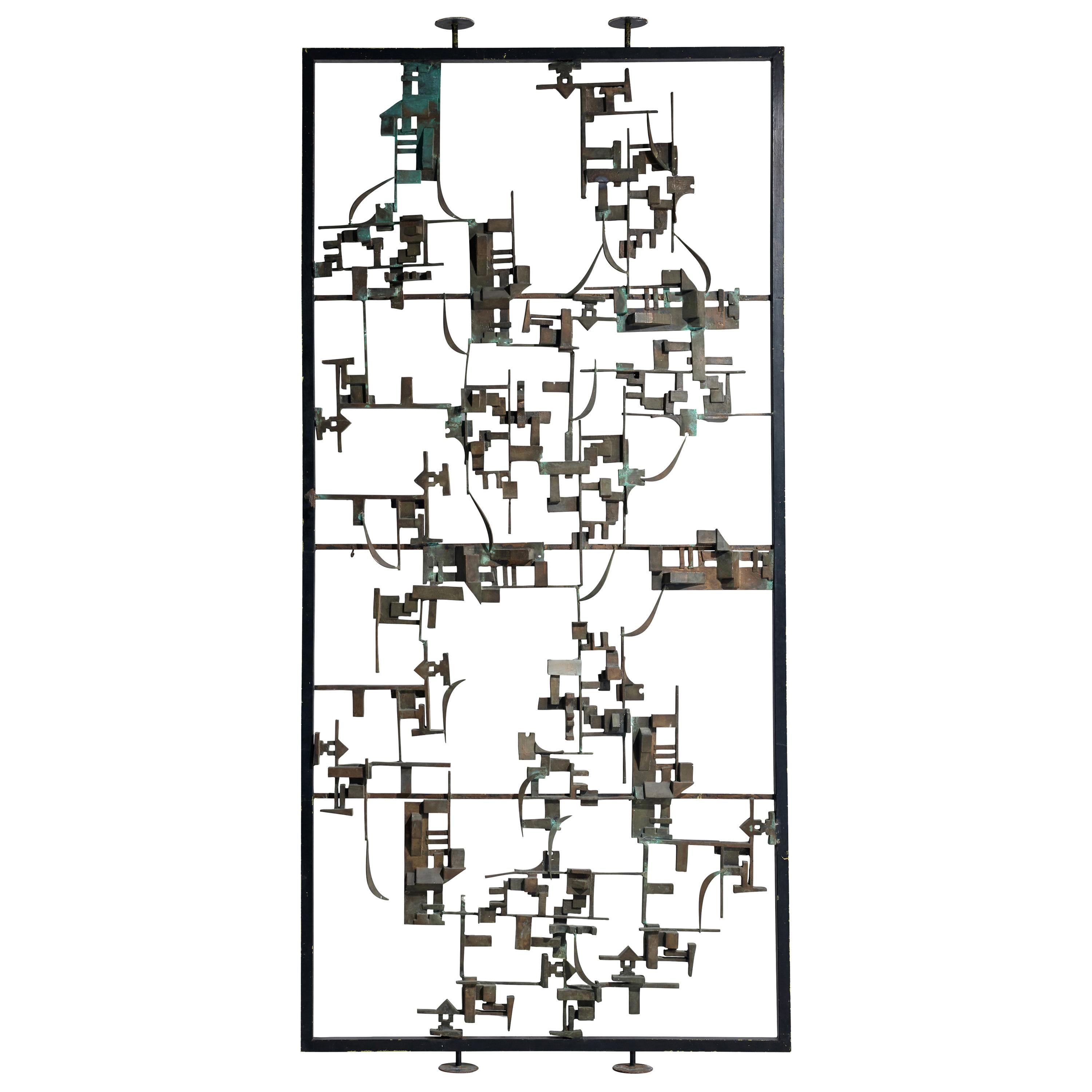 Artistic Hand-Crafted Room Divider in Bronze