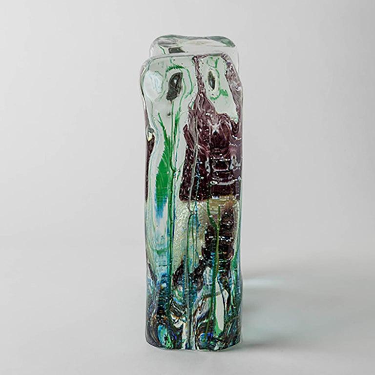 Italian Artistic Handmade Aquarium Murano Glass by Roberto Beltrami For Sale