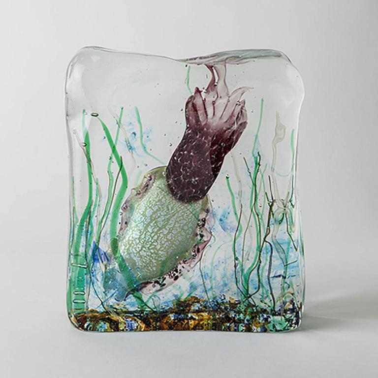 Hand-Crafted Artistic Handmade Aquarium Murano Glass by Roberto Beltrami For Sale