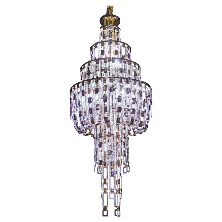 Artistic Handmade Chandelier, Belle Epoque by A. Lohman and La Murrina For Sale