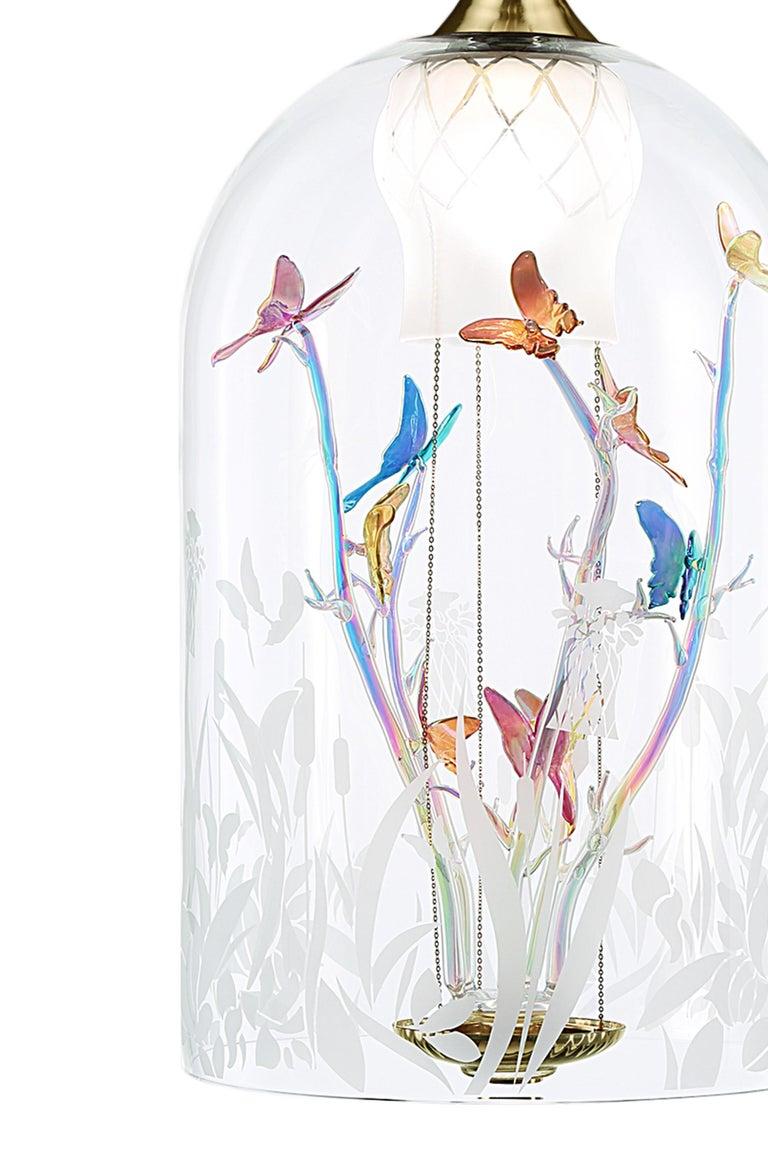 Modern Artistic Handmade Chandelier Jardin De Verre, by A. La Spada and La Murrina For Sale