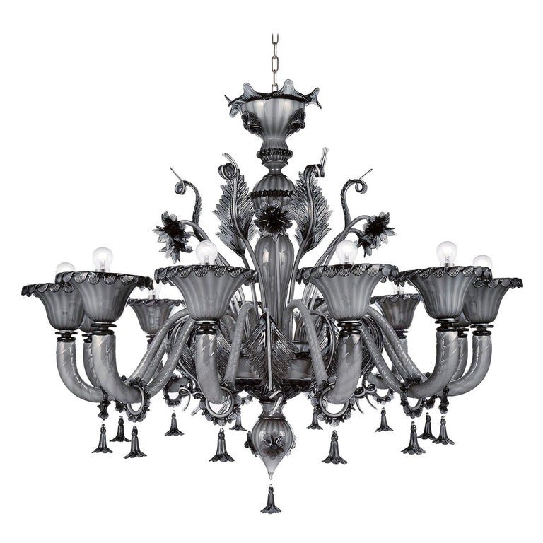 Artistic Handmade Murano Glass Chandelier Veneziano by La Murrina For Sale