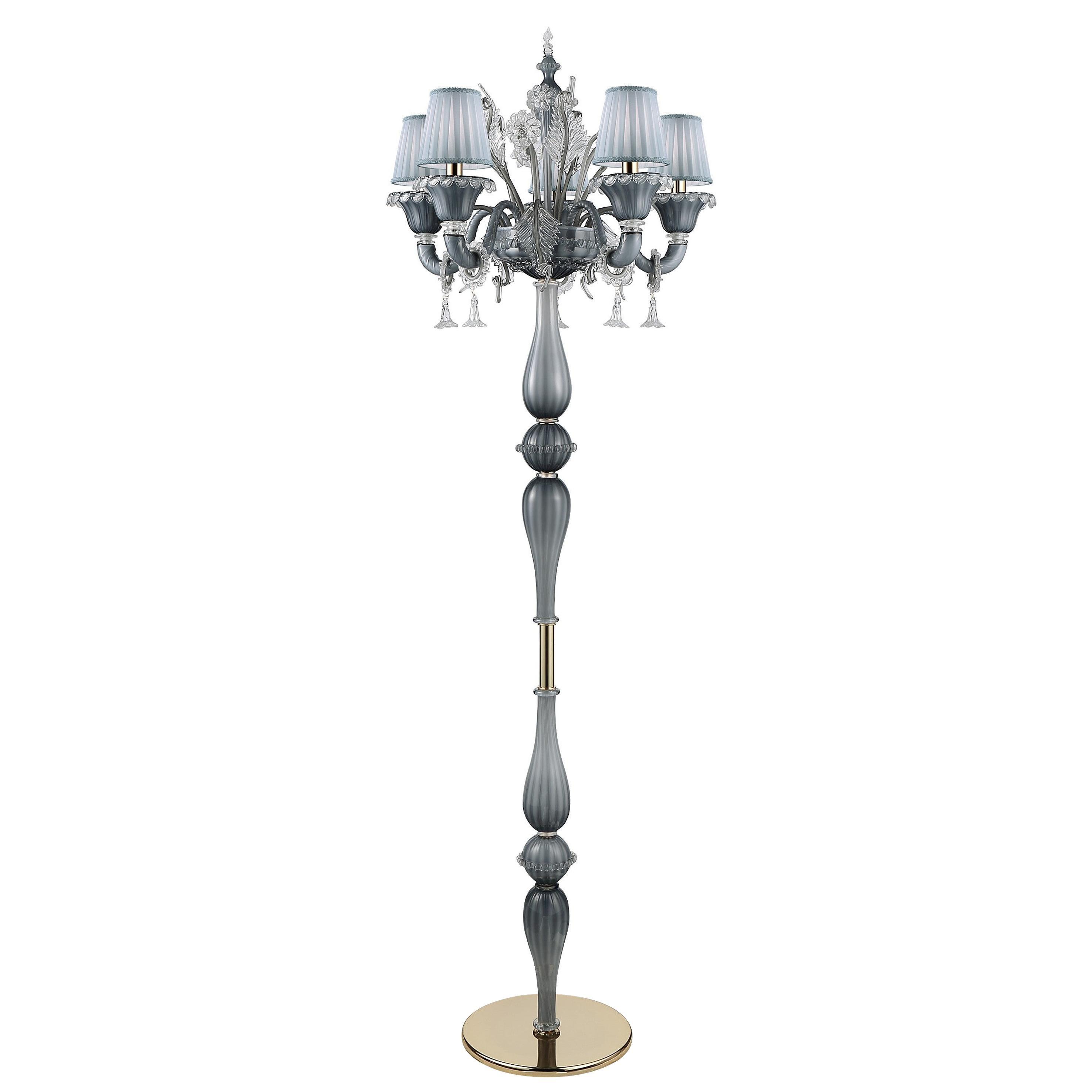 Artistic Handmade Murano Glass Floor Lamp Veneziano by La Murrina