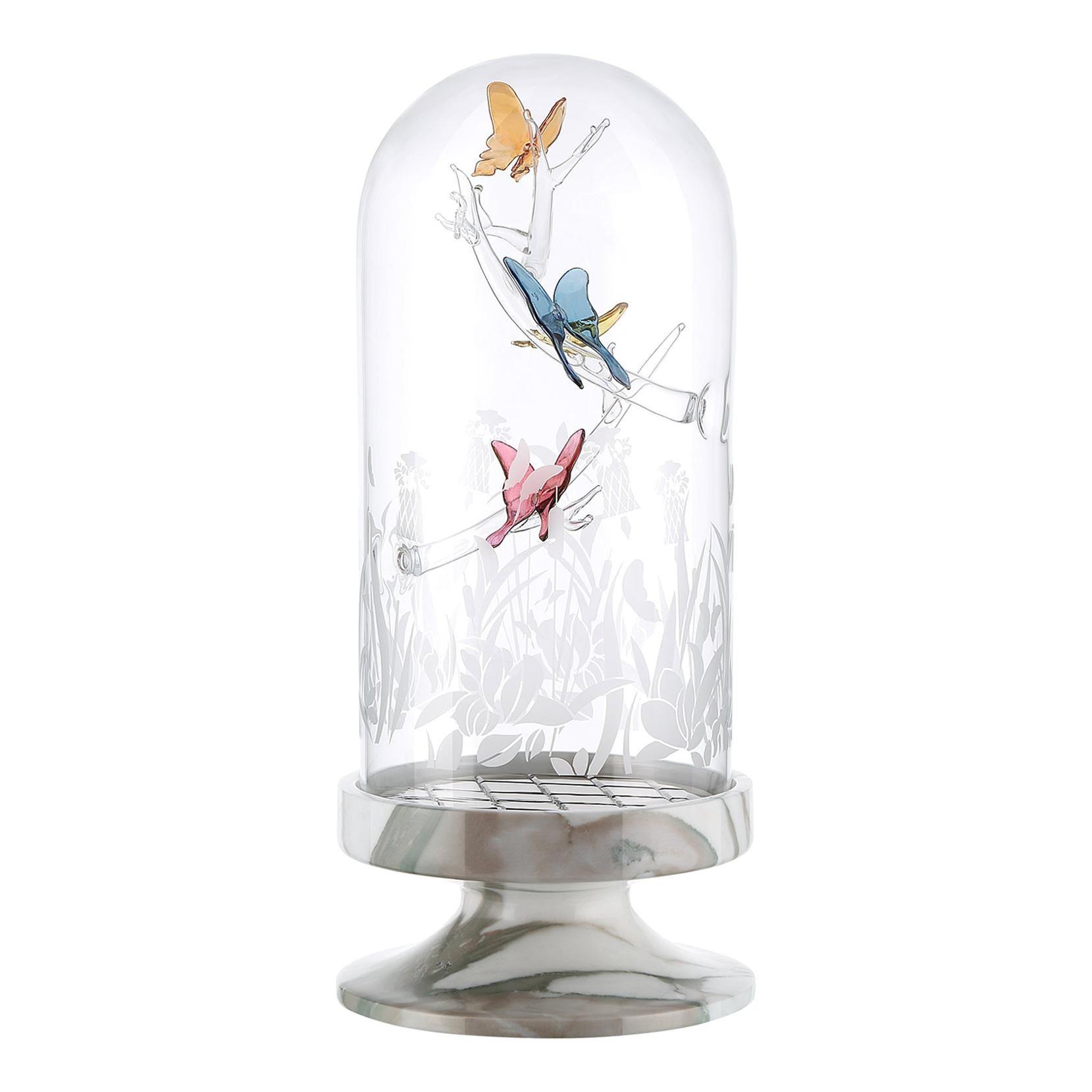 Artistic Handmade Table Lamp Jardin De Verre, by A. La Spada and La Murrina