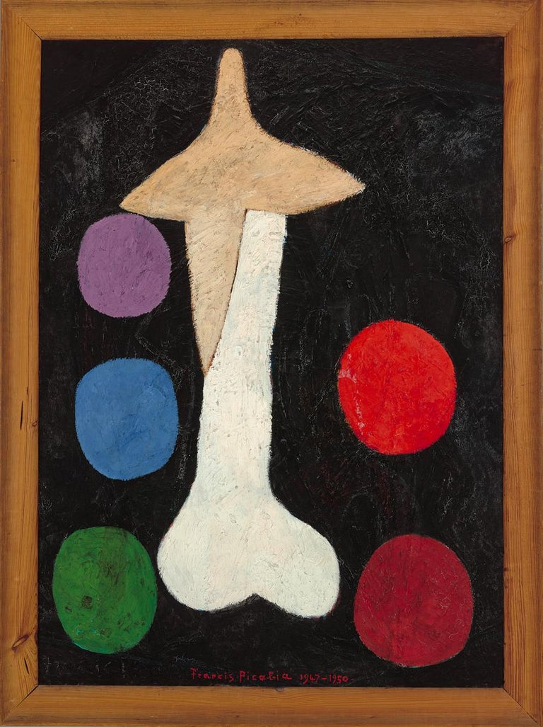 """Wool rug after Francis Picabia (France, 1879 – 1953) """"Égoïsme"""", circa 1950 wool rug Measures: 210 x 150 cm; 6.9 x 4.9 ft Signed lower centre; signed and inscribed with """"hors commerce"""" on verso. Edition and publisher are unknown.  The rug was made"""