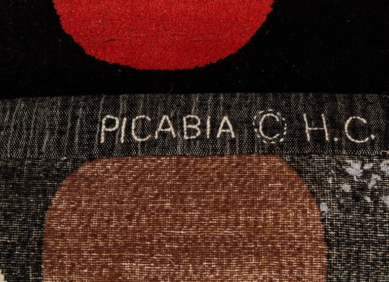 Artistic Modern Wool Rug after Francis Picabia, Égoïsme In Excellent Condition For Sale In New York, NY
