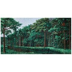 Artistic Mosaic Handmade on Aluminum Panel Dimension and Colors Customizable