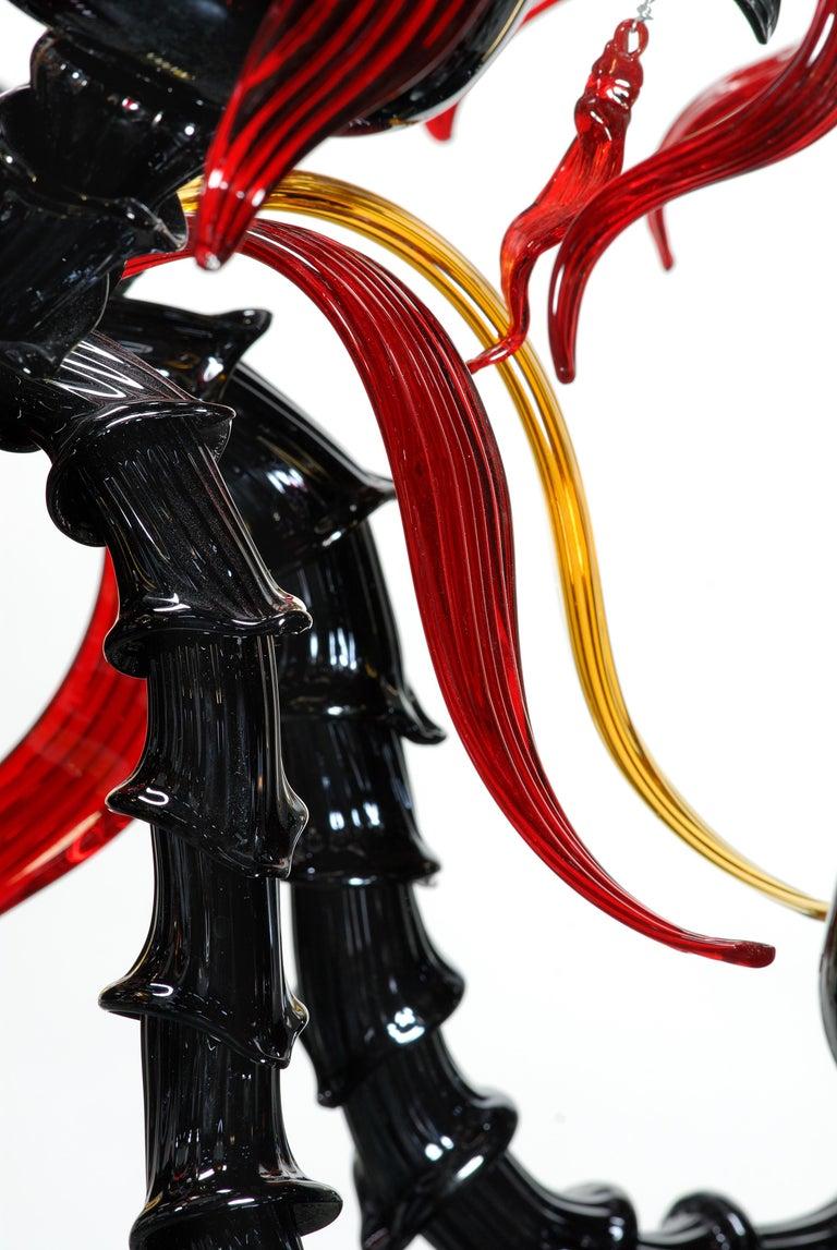 Contemporary Artistich Handmade Ca' Rezzonico Murano Glass Chandelier For Sale