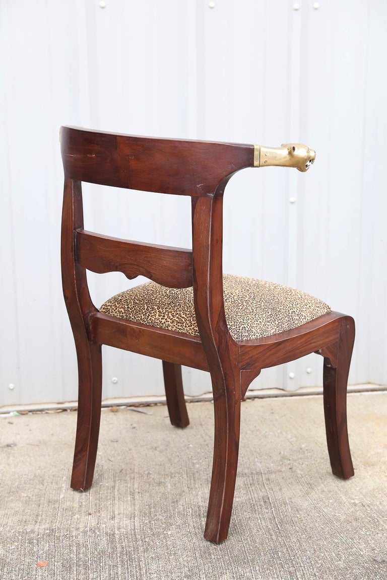 Artist's Designed and Crafted Dinning Chairs for Hunting Lodge in National Park For Sale 2