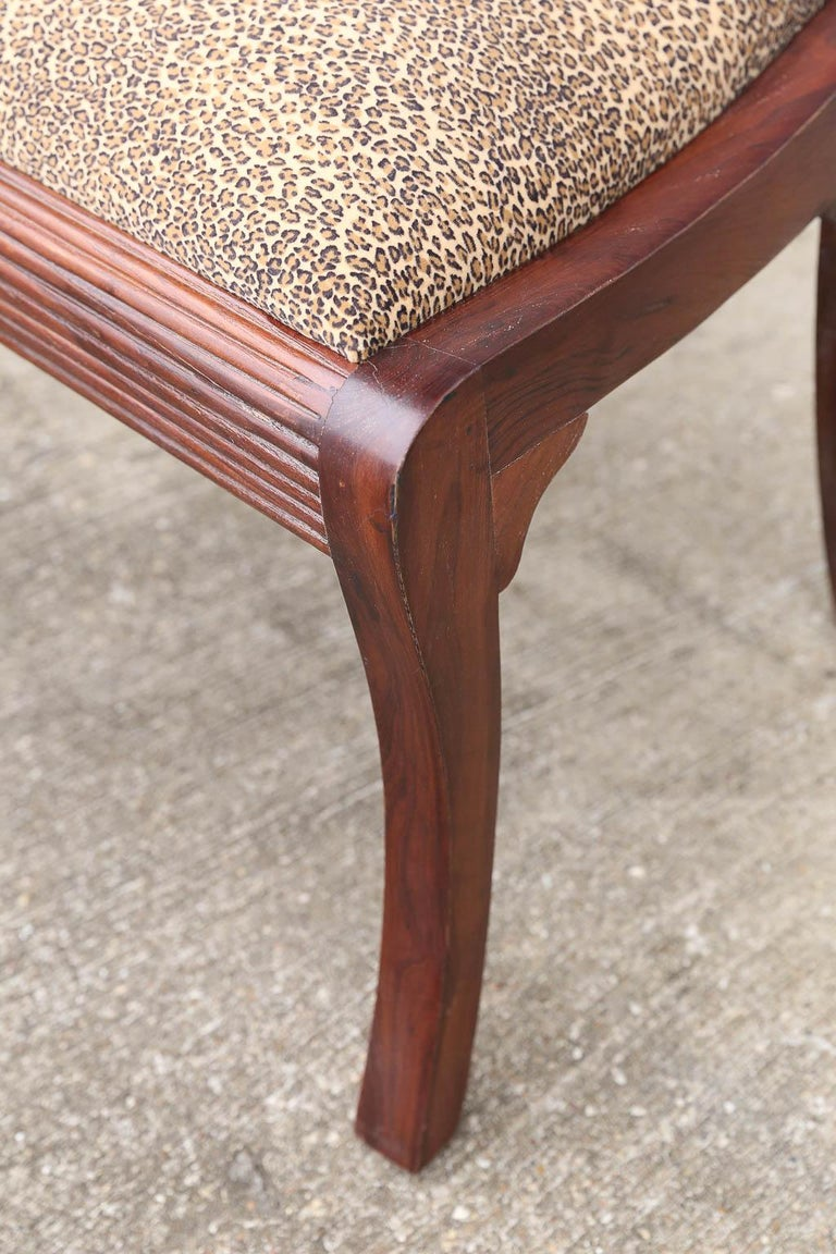 Teak Artist's Designed and Crafted Dinning Chairs for Hunting Lodge in National Park For Sale