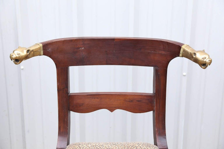 Artist's Designed and Crafted Dinning Chairs for Hunting Lodge in National Park For Sale 1