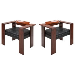 Artona Series Pair of Armchairs by Afra & Tobia Scarpa for Maxalto