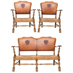 Arts & Crafts Settee with Chairs