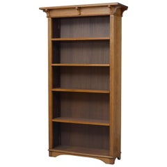 Arts & Craft Oak Open Bookcase
