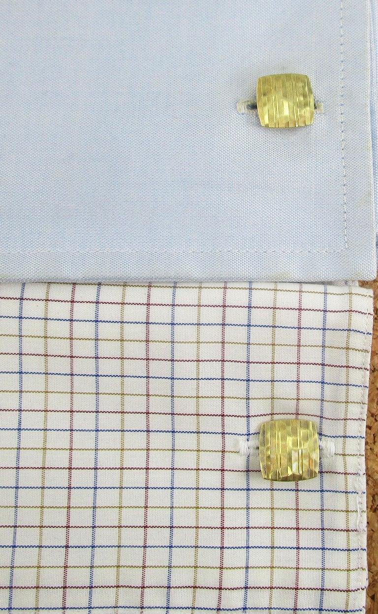 Arts and Crafts Arts & Crafts 14 Karat Yellow Gold Hammer Finish Carrington Cufflinks For Sale