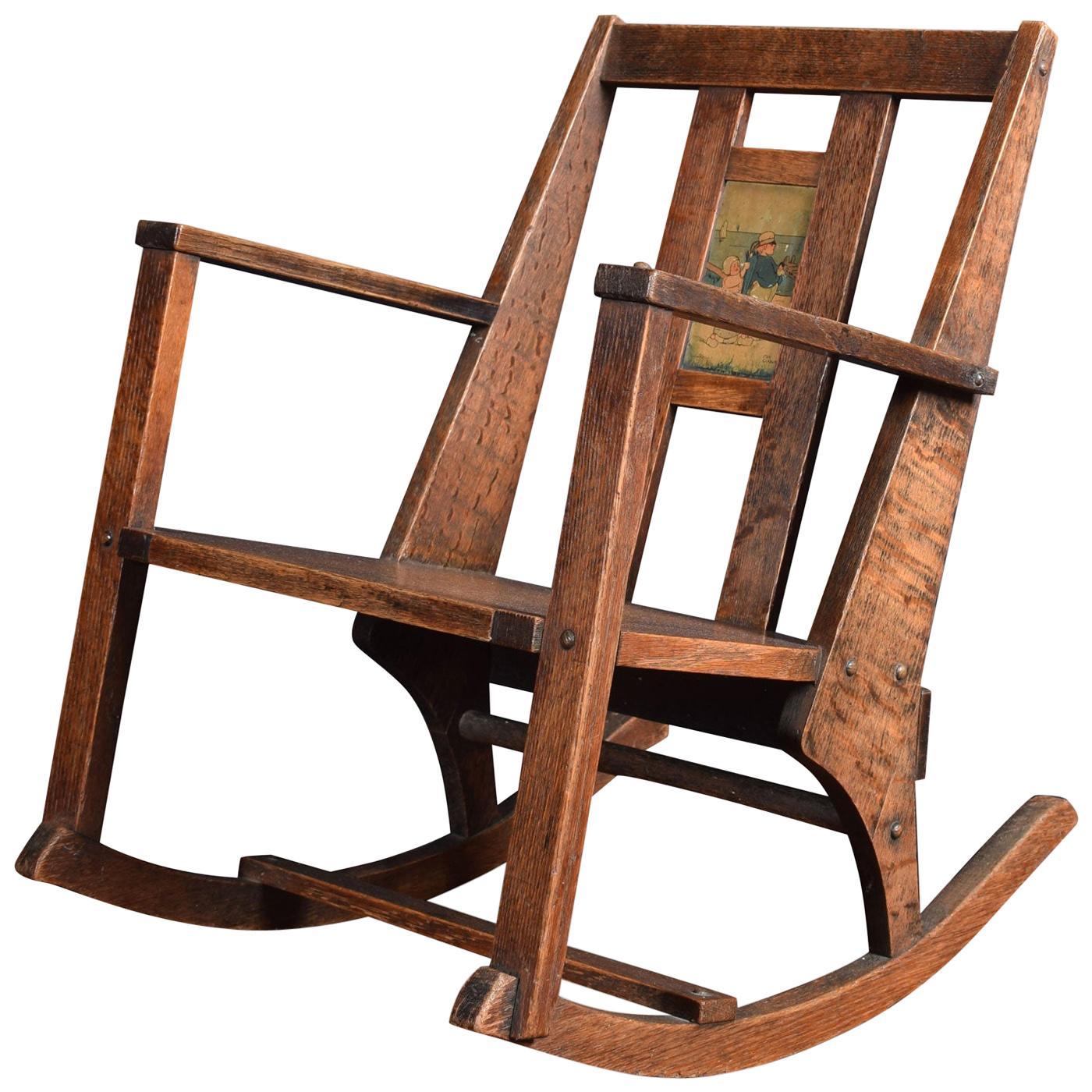 Arts & Crafts Childrens Rocking Chair