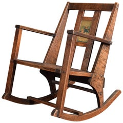 Arts & Crafts Childrens Rocking Chair