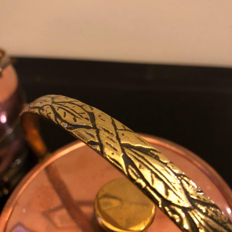English Arts & Crafts Copper and Brass British Ice Bucket, circa 1924 For Sale