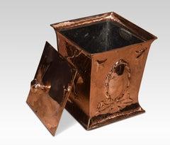 Arts and crafts copper coal bin