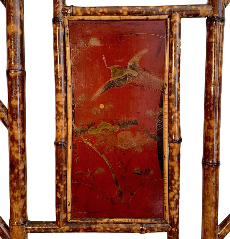 Arts and Crafts Arts & Crafts England Bamboo Lacquer Wardrobe For Sale