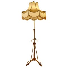 Arts & Crafts Extending Brass Floor Lamp, Standard Lamp