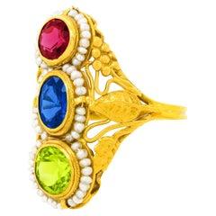 Arts & Crafts Gold Ring