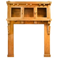 Arts & Crafts Golden Oak Fireplace Mantel