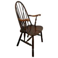 Arts & Crafts High Back English Windsor Carver Chair