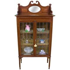 Arts & Crafts Inlaid Mahogany Display Cabinet